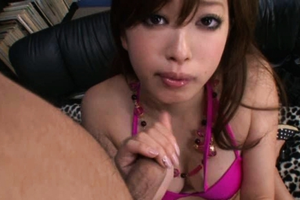 Emiri Senoo Gags on Thick Cock to Get Prize of Creaming Filling