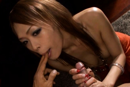 Hot Asian Rina Uses Her Dick Sucking Lips for What They Were Made For