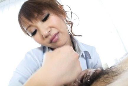 Anna Mizukawa pretty Japanese babe swallows huge dick
