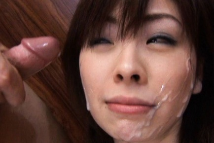 Ran Monbu Japanese model gives sensual blow job in a threesome