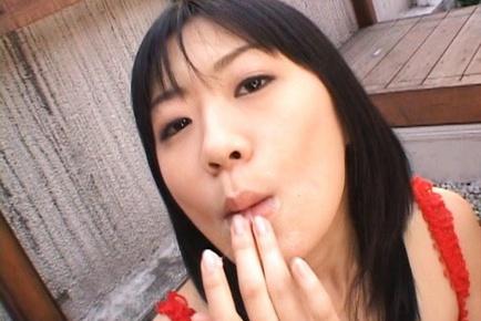 Saya Misaki hot Japanese model sucks cock and swallows
