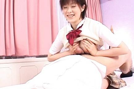 Sweet babe Kasumi Uehara gives sloppy blowjob