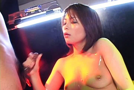 Hot milf Minami Mizuhara gets cum all over her boobs