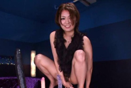 Hot Asian Miku Hasegawa in sexy lingerie gets cum in her mouth