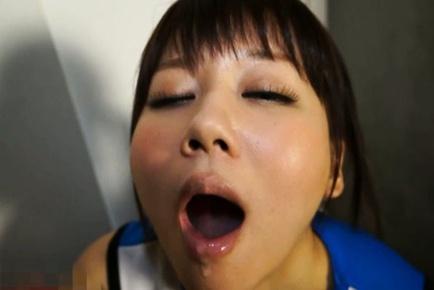 Lustful schoolgirl Yurika Miyaji sucks boner with pleasure