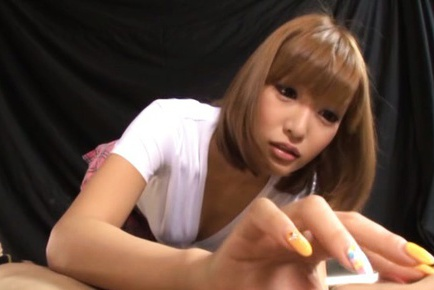 Horny schoolgirl Kirara Asuka pleases male with oral