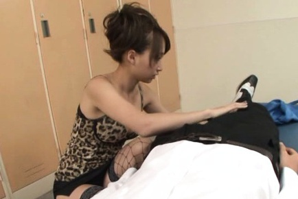 Busty Claire Asumi loves to swallow cum