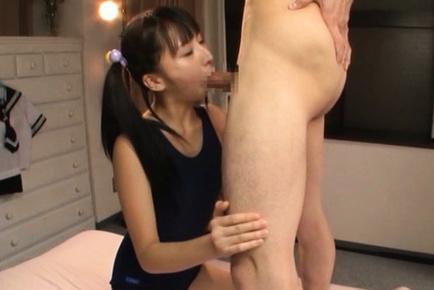 Superb Yuuki enjoys deepthroating cock on date