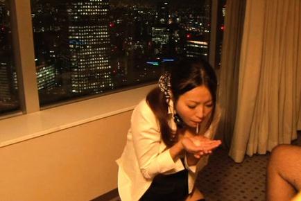 Superb hottie Miwako Yamamoto poses in sexy lingerie