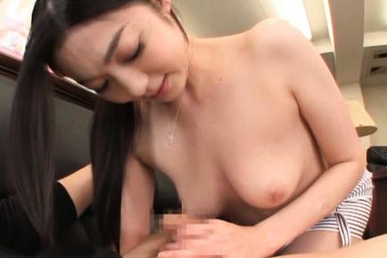 Cute Japanese female teacher Ryu is a fan of titfuck action