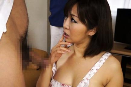Sexy Asian tramp Kaori engulfs throbbing dong