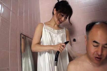 Mature lady stimulating her horny husband
