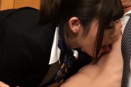 Sexy Japanese AV Models are office beauties sucking cock
