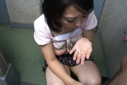Hungry Japanese housewife Yukari Emoto enjoys steaming sex