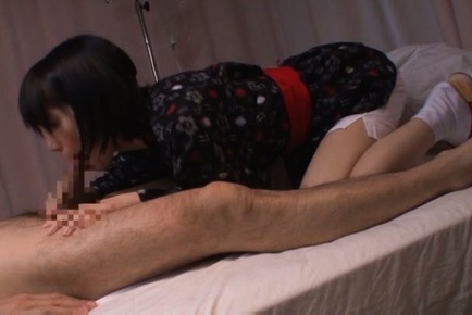 Lovely Asian gal Airi Suzumura deep throats her sex partner