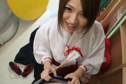 Sweet Asian amateur Azusa Akane enjoys titty fucking