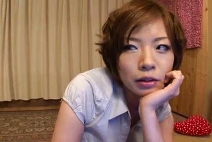 Amazing Japanese milf Nao Mizuki gets her feet licked and sucks rod