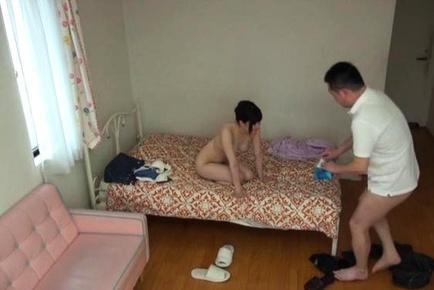 Frisky Japanese amateur teen cannot stop sucking big dick