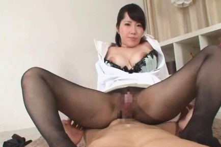 Hot milf Anna Kishi loves giving a blowjob